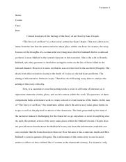 3866_Critical analysis of the setting of the story of an hour Kate Chopin.docx