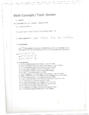 Math Concepts Solutions