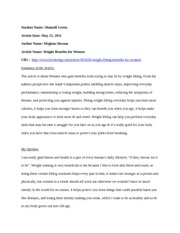 WEIGHT TRAINING ARTICLE1