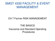 SMGT 4330 FARMER Ch 7 Risk Management SOP %26 Insurance Notes Spring 2011