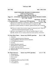 (www.entrance-exam.net)-Anatomy,Physiology & Health Education Sample Paper 4