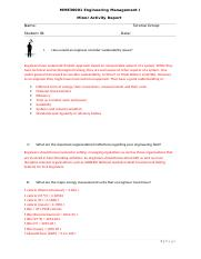 Minor activity Sustainability and Engineering with answers1.docx