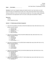 CRMartinnt2640Unit2WorkSheet1IPAddressingRouting