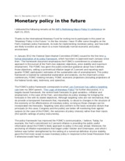 Monetary Policy in the Future