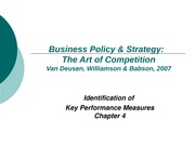 Strategic Management and Business Policy Chapter 4 Power Point