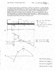 Mfet 2300 Quiz 11 Beam Example Solution