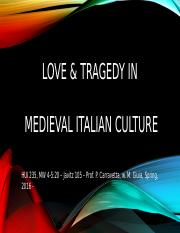 Love & Tragedy in Middle Ages SP 16  intro
