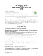 Anuik EDU100CourseOutline B 9 2014