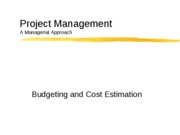 cost estimation and budgeting