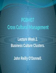PGBM07 Week 2 Lecture