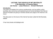 ELEN E6773 14 TWO SURVEYS OF NET NEUTRALITY