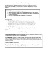 Assignment_Executive Summary and Rubric_Sumer 2016 _2_ _2_