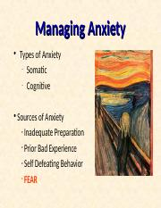 2- Managing Anxiety.ppt