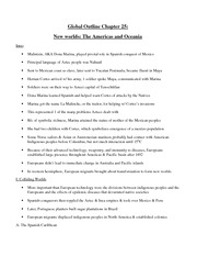 Global Outline Chapter 25 New worlds- The Americas and Oceania