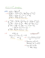 Section 12.2 Notes on Second Derivative