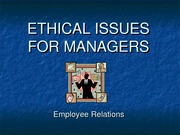 ethical issue for managers- relation