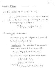 Markov Chains Notes