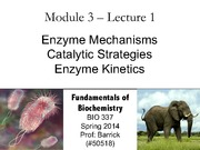 Module-3, Lecture-2 Enzyme Mechanisms and Kinetics