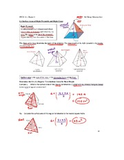 1.4 Surface Areas of Right Pyramids and Cones