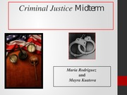 Criminal Justice Midterm PowerPoint