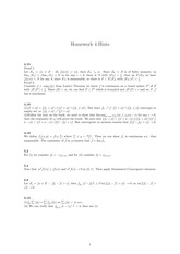 Homework 4 Solution on Real Analysis Fall 2014