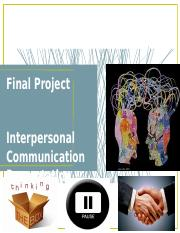 hca 230 final projectfinal project interpersonal communication presentation Hca 230 are you a good communicator are you a good communicator how do you know if you have effective communication to have effective communication you.