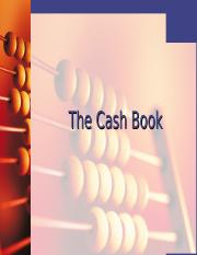 Note 4.0 The Cash Book (1)