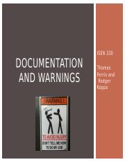 5.1_Documentation and Warnings_Written info processing