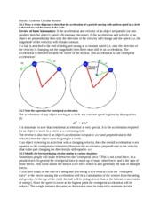 Physics Uniform Circular Motion