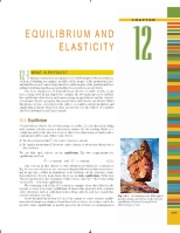 Ch 12 Equilibrium and Elasticity