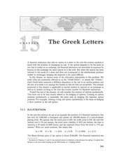 Chapter 15 Lecture on the Greeks