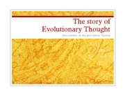 Lecture 2 - evolutionary thought notes