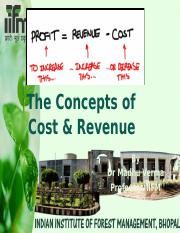 MEA Class 11- 12 Concepts of Cost & Revenue