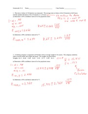 Stats HW 15-17 with Solutions