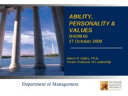 Ability, Personality, and Values.ppt