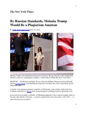 06 MacFarquhar, By Russian Standards, Melania Trump Would Be a Plagiarism Amateur (NYTimes).pdf