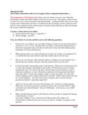 Management 450 spring 2016 movie paper assignment