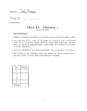 Midterm 1Solutions