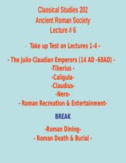 Classical Studies 202 Lecture 6.ppt