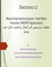Chapter 5_MOSFET Aplications