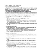 GM520 Midterm Exam study guide
