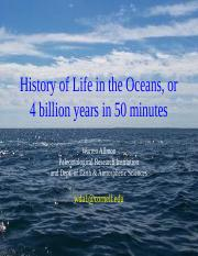 4_Allmon History of Life in the Oceans 2014