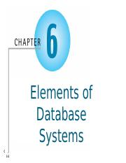 AIS - Chapter 6 - Elements of Data Base Systems - Student.pptx