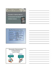 3 Chapter Personality Part 1 Student Handouts BUSI 109