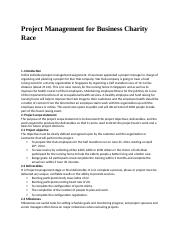 Project Management for Business Charity Race.docx