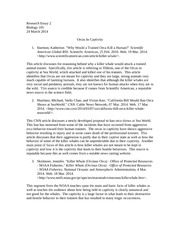 animal rights study resources 2 pages research essay 2 orcas in captivity