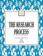 Team B The Research Process2