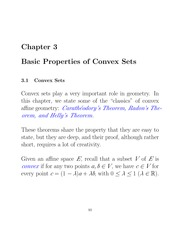 Basics properties of Convex sets