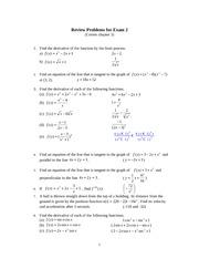 Chap 3 Answers for Exam 2