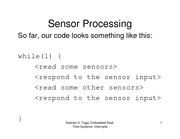 Lecture Notes on Sensor Processing